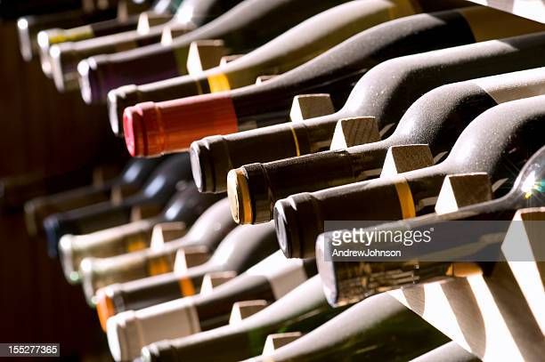 Porte-bouteilles de vin sur