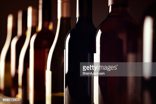 Wine bottles : Foto de stock