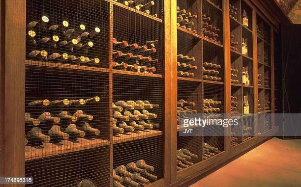 Wine cellar in Napa Valley.