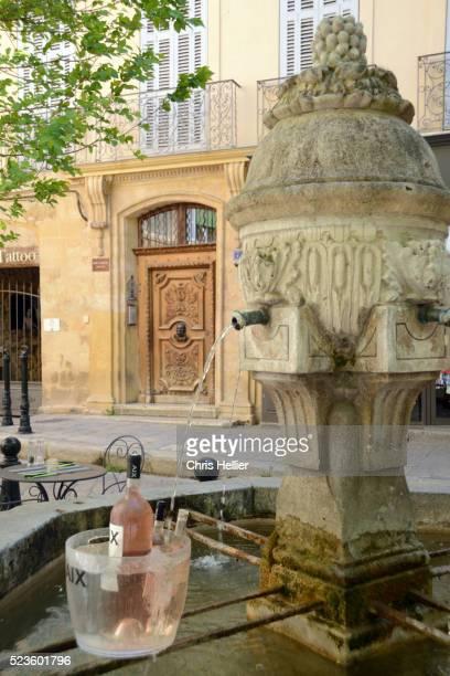 Wine Cooling in Fountain on Place des Trois Ormeaux Aix-en-Prove