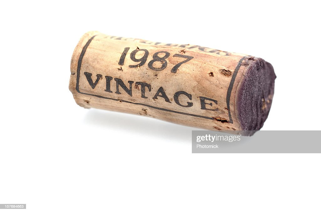 Wine cork from a vintage port