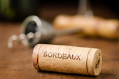 Wine Cork from Bordeaux France Horizontal