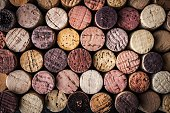 Background of wine corks  close-up horizontal