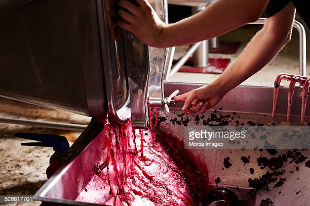 Wine draining