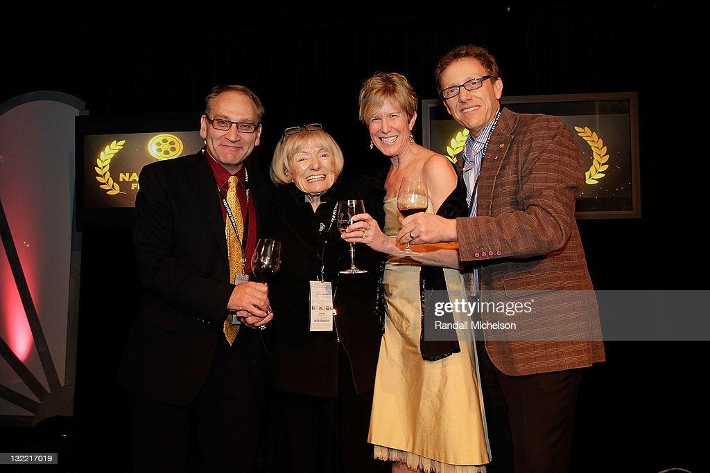 Wine Executive Carl Jaeger Winemaker Margit Mondavi and Napa Valley Film Festival Founders CoDirectors Brenda Lhormer and Marc Lhormer attend the...