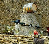 Whitr wine fountain