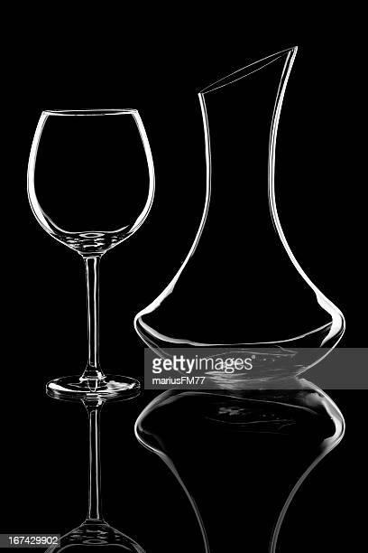 Wein Glas und Karaffe
