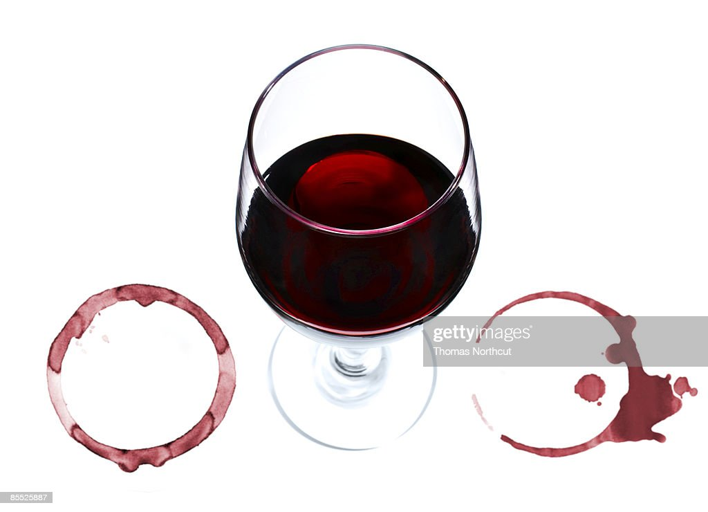 Wine glass and rings. : Stock Photo