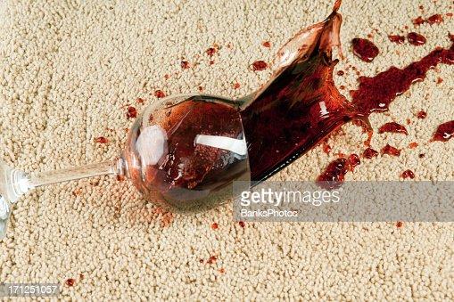 Wine Glass Falls onto Carpet