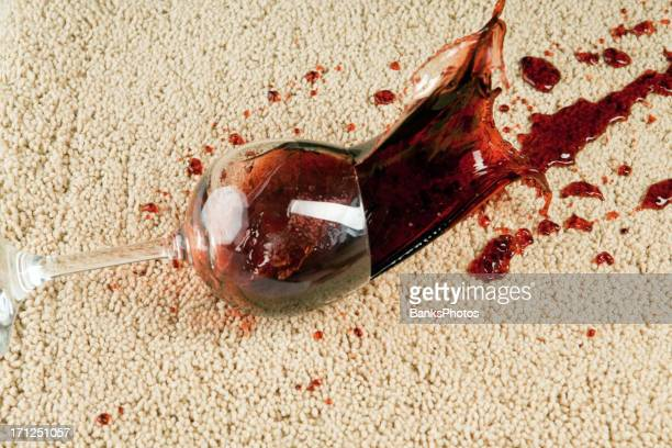 Wine Glass Falls onto Carpet