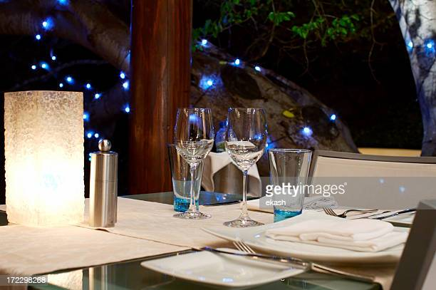 Wine Glasses by the candle light
