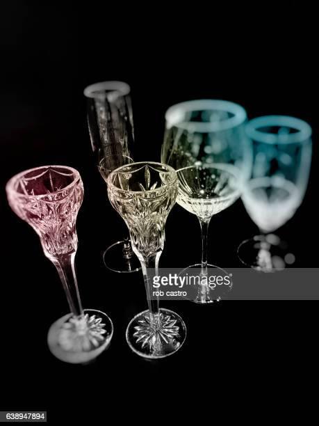 Wine Glasses on dark background