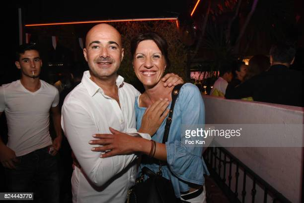 Wine grower Olivier Forni and his wife attend the VIP Room Saint Tropez Party As part of SaintTropez Party On French RivieraÊ on July 29 2017 in...
