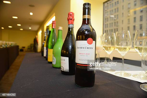 Wine on display at Dim Sommelier A RedFarm Pairing Seminar Hosted By Ed Schoenfeld And Josh Wesson Celebrity Cruises Pairing Seminars Hosted By FOOD...