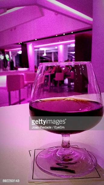 Wine Served In Wineglass On Table