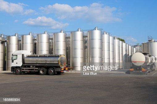 Wine Storage Tanks and Trucks