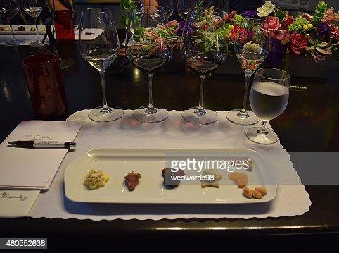 Degustación de vinos : Foto de stock