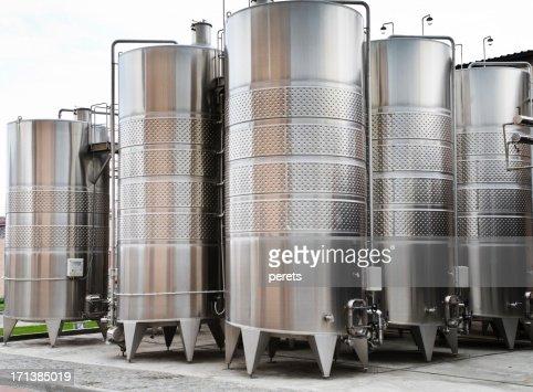 wine vats on the winery