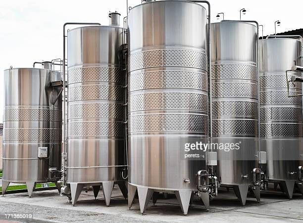wine vats on the winery