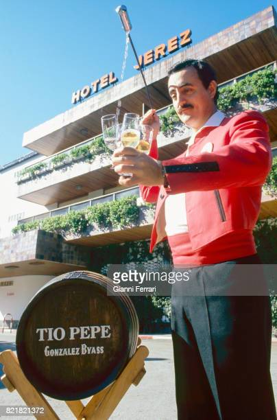 Wine waiterr Jerez de la Frontera Andalusia Spain