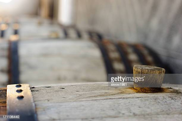 wine wooden barrels