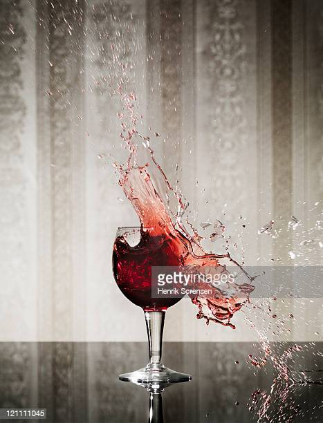 Wineglass exploding