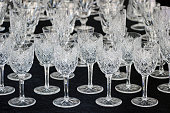 wineglasses on black table