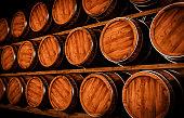 Wooden winemaking barrel 3d illustration