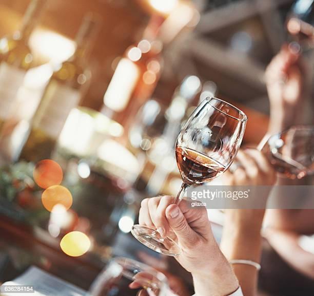 Degustazione di vino evento.