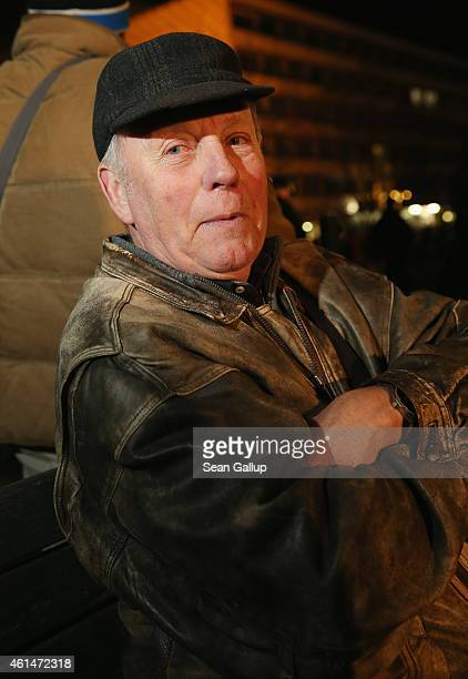 Winfried a participant at the 12th Pegida protest gathering and stroll said he came 'Not because we're fascists or Nazis or have anything in common...