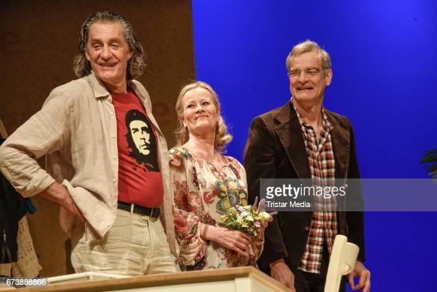 Winfried Glatzeder Claudia Rieschel and Heinrich Schafmeister during the 'Wir sind die Neuen' Rehearsal at Komoedie am Kurfuerstendamm on April 27...