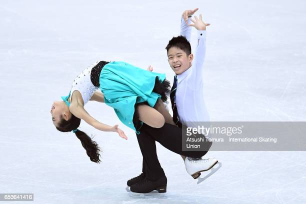 Wing Yi Valerie So and Marcus Yau of Hong Kong compete in the Junior Ice Dance Short Dance during the 2nd day of the World Junior Figure Skating...