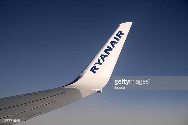 Winglet of Ryanair aircraft.