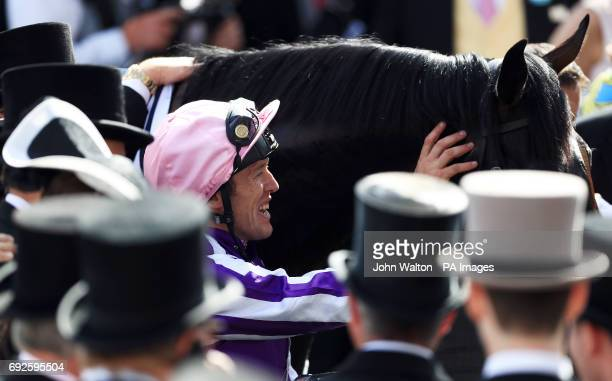 Wings Of Eagles ridden by Jockey Padraig Beggy wins the Investec Derby