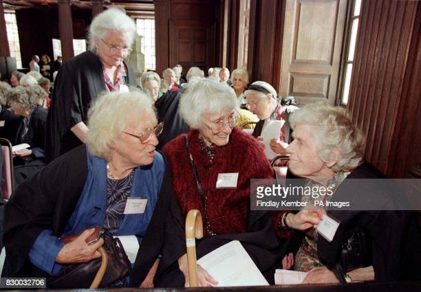 Winifred Vickers Helen Gordon and Patricia Sanderson Elizabeth Mason and Rita Wilson three former students at Cambridge University before 1948 catch...