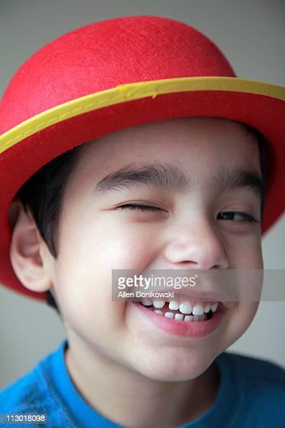 Winking Boy Portrait