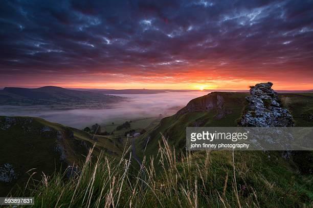 Winnats pass sunrise, Castleton, peak district