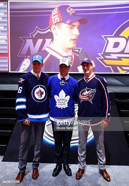 Winnepegs Jets second overall pick Patrik Laine Toronto Maple Leafs first overall pick Auston Matthews and Columbus Blue Jackets third overall pick...