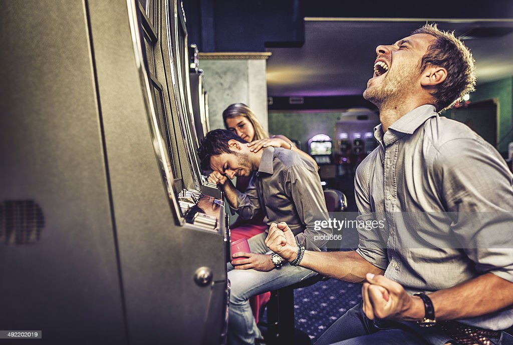 Winner and loser at casino