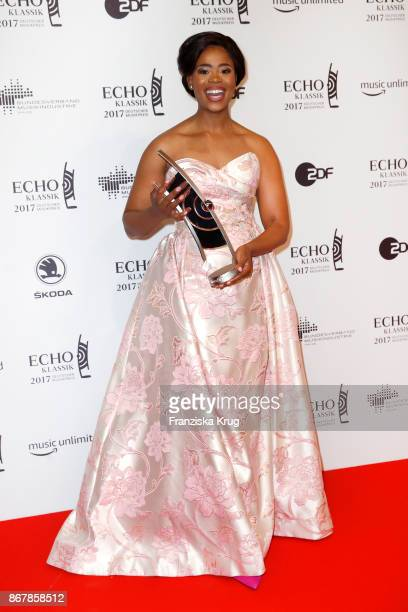 Winner and opera singer Pretty Yende attends the ECHO Klassik 2017 at Elbphilharmonie on October 29 2017 in Hamburg Germany