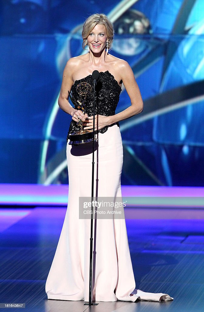 Winner, <a gi-track='captionPersonalityLinkClicked' href=/galleries/search?phrase=Anna+Gunn&family=editorial&specificpeople=589359 ng-click='$event.stopPropagation()'>Anna Gunn</a>, during the 65th Primetime Emmy Awards which will be broadcast live across the country 8:00-11:00 PM ET/ 5:00-8:00 PM PT from NOKIA Theater L.A. LIVE in Los Angeles, Calif., on Sunday, Sept. 22 on the CBS Television Network.