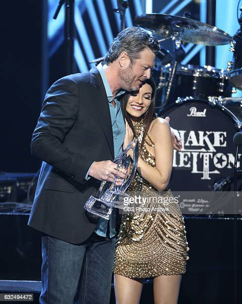 Winner Blake Shelton and Leighton Meester during the PEOPLE'S CHOICE AWARDS 2017 the only major awards show where fans determine the nominees and...