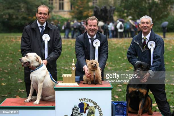 Winner Charlie Elphicke Conservative MP for Dover and Deal with his Norfolk Terrier Star second place David Burroughes Conservative MP for Enfield...