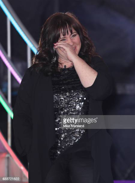 Winner Coleen Nolan leaves the Celebrity Big Brother house on February 3 2017 in Borehamwood United Kingdom