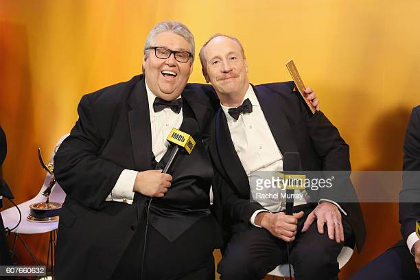 Winner David Mandel and actor Matt Walsh attend IMDb Live After The Emmys presented by TCL on September 18 2016 in Los Angeles California