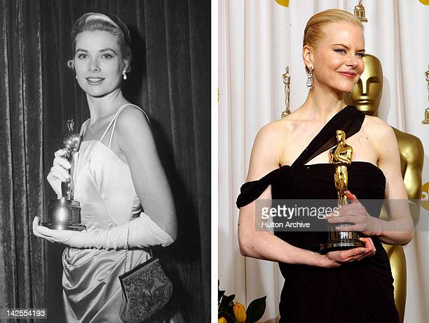 In this composite image a comparison has been made between Grace Kelly and actress Nicole Kidman Actress Nicole Kidman is reportedly in talks to play...