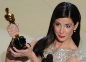 Winner for Best Actress in a Leading Role Sandra Bullock gives her acceptance speech at the 82nd Academy Awards at the Kodak Theater in Hollywood...