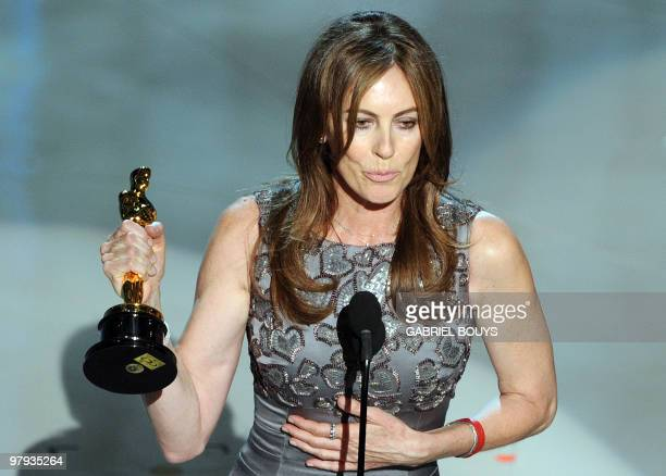 Winner for Best Director and Best Picture Kathryn Bigelow for 'The Hurt Locker' gives her acceptance speech at the 82nd Academy Awards at the Kodak...