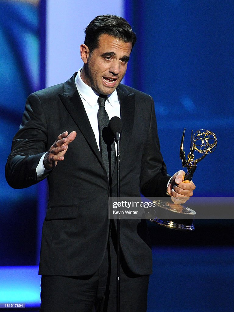 Winner for Best Supporting Actor in a Drama Series, Bobby Cannavale speaks onstage during the 65th Annual Primetime Emmy Awards held at Nokia Theatre L.A. Live on September 22, 2013 in Los Angeles, California.
