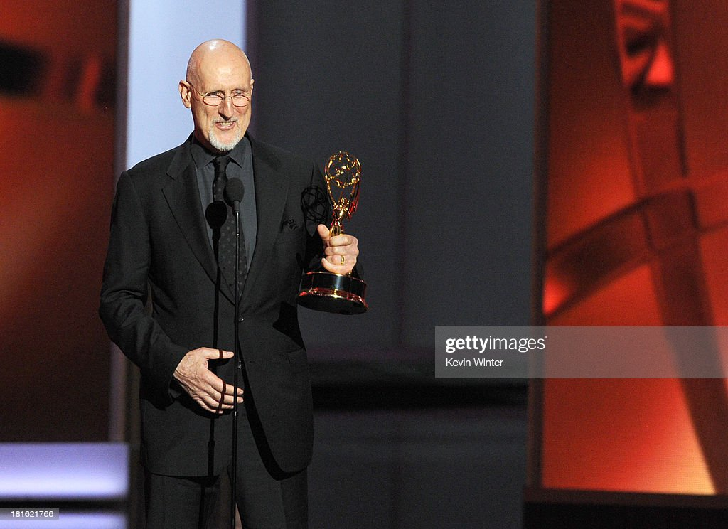 Winner for Best Supporting Actor in a Miniseries or Movie, James Cromwell accepts his award onstage during the 65th Annual Primetime Emmy Awards held at Nokia Theatre L.A. Live on September 22, 2013 in Los Angeles, California.